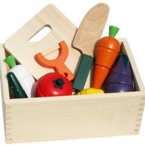 Bộ đồ chơi cắt hoa quả bằng gỗ