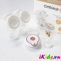 Máy hút sữa điện đôi Cmbear có chức năng massage tặng 1 núm ty cho bé