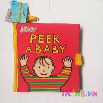 Sách vải Jolly baby – Chủ đềPeek a baby