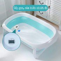 Chậu tắm gấp gọn có cảm biến nhiệt