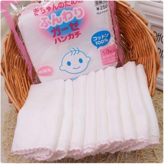 Khăn xô sữa cho bé gói 10 khăn – made in Japan